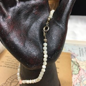 Jewelry - Mother of Pearl & Angel Skin Coral Chip Anklet